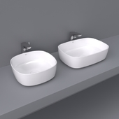 Inspira by Roca over counter wash basin 50x37 and 37x37 soft