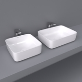 Inspira by Roca over counter wash basin 50x37 and 37x37 square