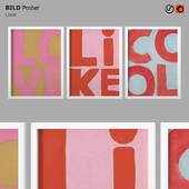 IKEA BILD Poster Love