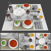 Food and drink preparation table  set 01