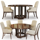Chair and round table Bridgeton. Century. Round Dining Table.