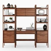 C & B Tate Bookcase Desk and File Cabinets