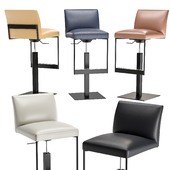 Calligaris Gala Upholstered metal stool