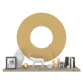 Decorative set with mirror GONG B