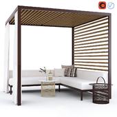 Садовая беседка с диваном Kettal Pavilion Gazebo