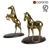 Horse figurines in various poses