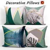 Decorative pillows set 309 Mountain