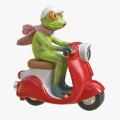 """Figurine """"Frog on a scooter"""""""