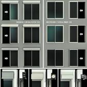 Раздвижные витражные двери с рольставни