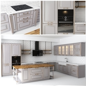 Classic kitchen with an island
