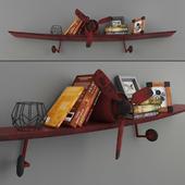 Shelf aircraft with loft decor