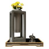 Decorative set Uttermost with chrysanthemums