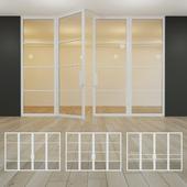 Glass partition. A door. 22