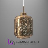 """OM"" Suspended Lumina Deco Alacosmo lamp gold"