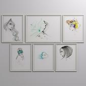 Woman portrait set