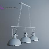 """OM"" Pendant lamp Lumina Deco Batore white"
