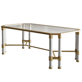 Chandon Acrylic Coffee Table, Bronze