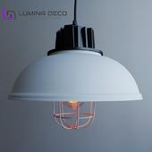 """OM"" Hanging lamp Lumina Deco Fuko white"