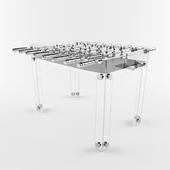 Table football crystal and chrome