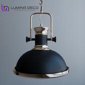 """OM"" Hanging lamp Lumina Deco Batore black"