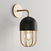 Capsule cage sconce