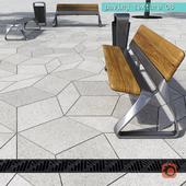 Paving rombic HR / street furniture 08