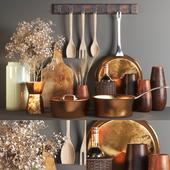 set135 -rustic kitchen set