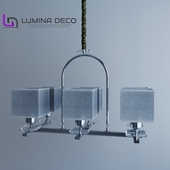 """OM"" Suspended chandelier Lumina Deco Liniano chrome"