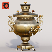 Samovar and metal materials for Corona renderer