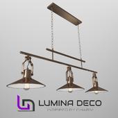"""""""OM"""" Suspension Lumina Deco Settore Trio bronze"""