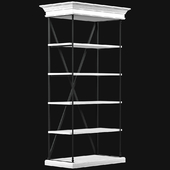 Parisian cornice single shelving | Restoration Hardware