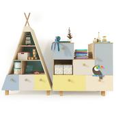 Bookcase. Children's furniture Kvikk