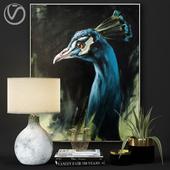 Peacock Decorative Set