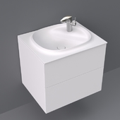 Beyond by Roca base unit with two drawers and basin 600x505x525