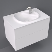 Beyond by Roca base unit with two drawers and basin 800x505x525