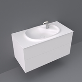 Beyond by Roca base unit with two drawers and basin 1000x505x525