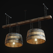 Hand Made Loft Barrel Lamp