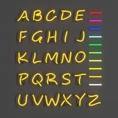Modular Neon Alphabet Letters