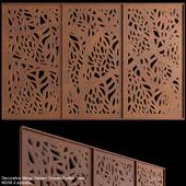 Decorative Metal Garden Screen Corten Steel | MD56 3 screens