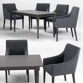 IKEA SAKARIAS armchair INGATORP dining table