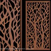 Decorative Metal Screens Wall Art Garden Screen - Autumn Forest