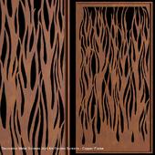 Decorative Metal Screens Wall Art Garden Screens - Copper Flame