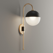 Mid-Century Globe Adjustable Arm Wall Sconce