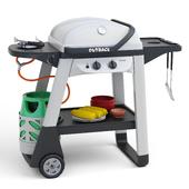 Outback Excel 2 Burner Gas BBQ - Silver  Black