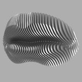 Губы; настенная скульптура