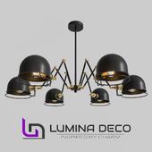 """OM"" Suspended loft lamp Lumina Deco Valmonti W6"