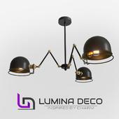 """OM"" Suspended loft lamp Lumina Deco Valmonti W3 black"