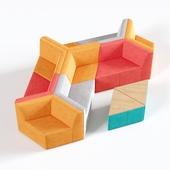 OM Sofa Origami 10-seater