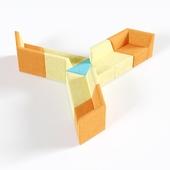 OM Sofa Origami 9-seater