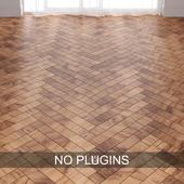 Brown Oak Wood Parquet Floor Tiles vol.009 in 2 types